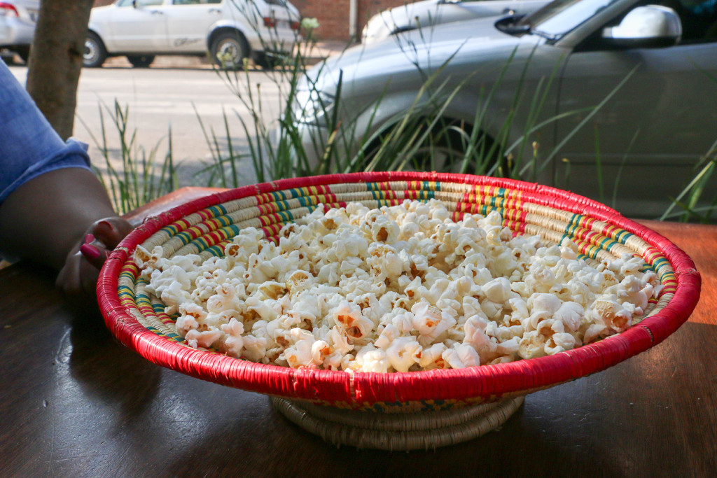SNACKS: Ethiopians complement the strong coffee with a bowl of fresh popcorn. Photo: Boipelo Boikhutso