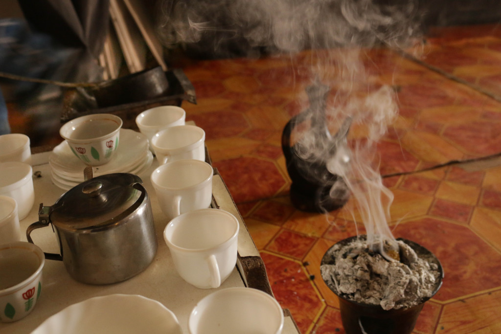 Incense plays a pivotal role in Ethiopian coffee culture. The smell of incense serves as an invitation to the ceremony. Photo: Boipelo Boikhutso