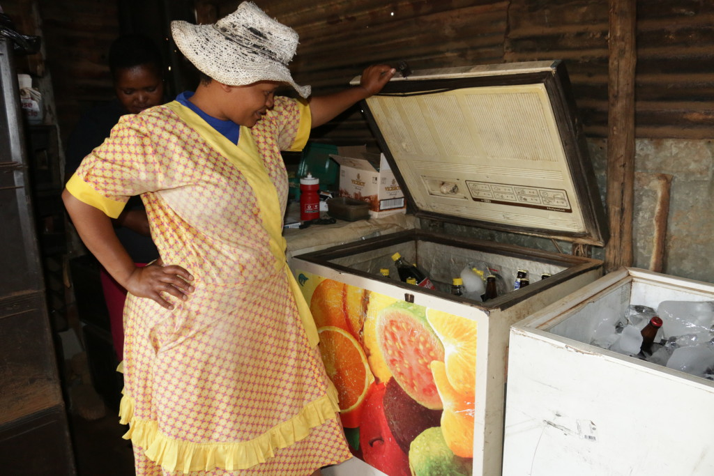 ISPOTI: Mdanyana only stocks her alcohol in one fridge because she says, buying in bulks in this kind of a business is a waste of money and a great loss.