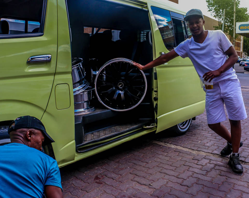 SYMBOL OF PRIDE: Guys in Mayfair take pride in their cars, no matter what model or make they drive. Photo: Michelle Gumede